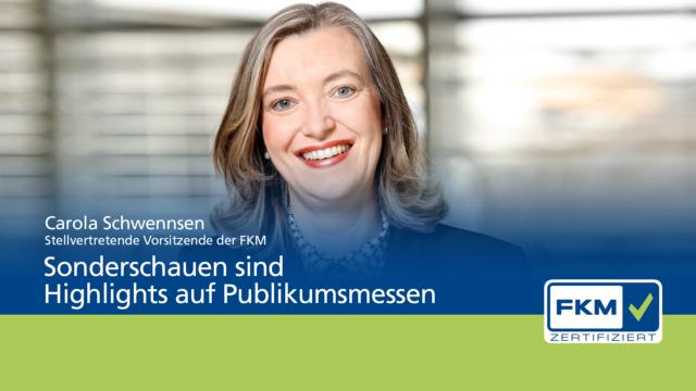 FKM, Carola Schwennsen, Statement zum Thema Sonderschauen